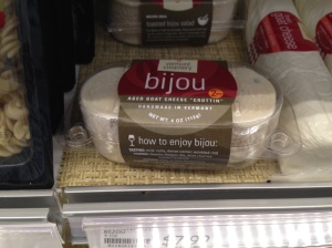 This pre-packaged goat cheese is marketed just for melting.  It is a bit pricy, but a small amount goes a long way.