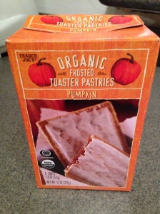 Trader Joe's pumpkin toaster pastries.  A for effort, B- for execution!