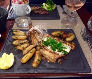 Perfectly cooked and presented dorade
