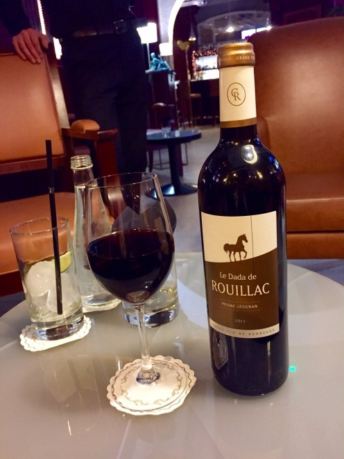 A luscious Bordeaux wine by the glass at the bar at Gabriel