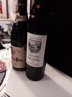 Two of our favorite - but dueling French reds - Chateauneuf de Pape and a Bordeaux red