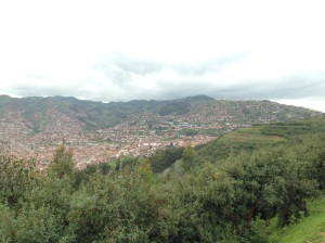 View. of Cusco from  surrounding hills