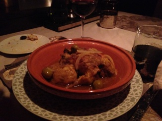 Chicken and olive tagine